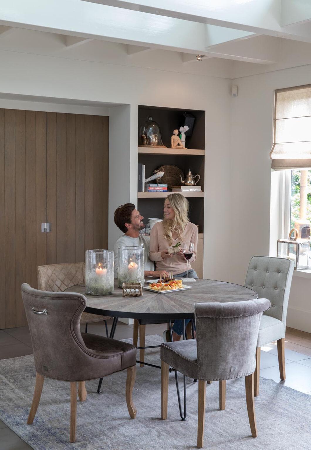 Enjoyable Riviera Maison Ronde Eettafel Boston Harbor 140Cm Short Links Chair Design For Home Short Linksinfo