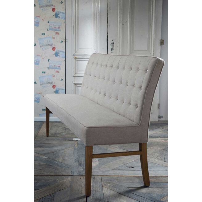 Rivièra Maison Eetkamerbank 'Cape Breton' Linen, kleur Flax