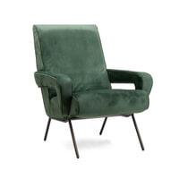 SoHome Fauteuil 'Kristie' Velvet, kleur groen