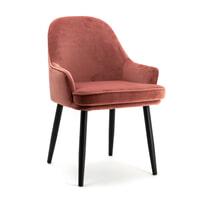 Eleonora Eetkamerstoel 'Barbara' Velvet, kleur roze