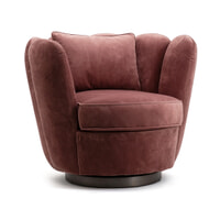 Eleonora Draaifauteuil 'Maria' Velvet, kleur roze