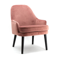 Eleonora Fauteuil 'Barbara' Velvet, kleur roze
