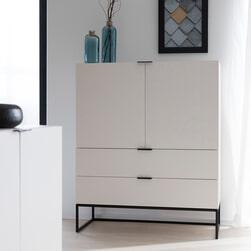 Interstil Opbergkast 'Kobe' 120 x 100cm, kleur wit
