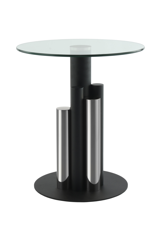 Kayoom Bijzettafel 'Ontario' 46cm, kleur zwart / zilver