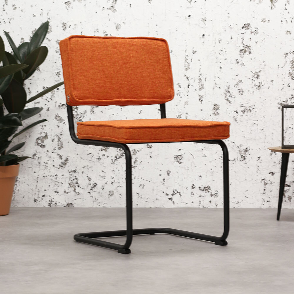 Brookvin Eetkamerstoel 'Industrial' Rib, kleur Oranje