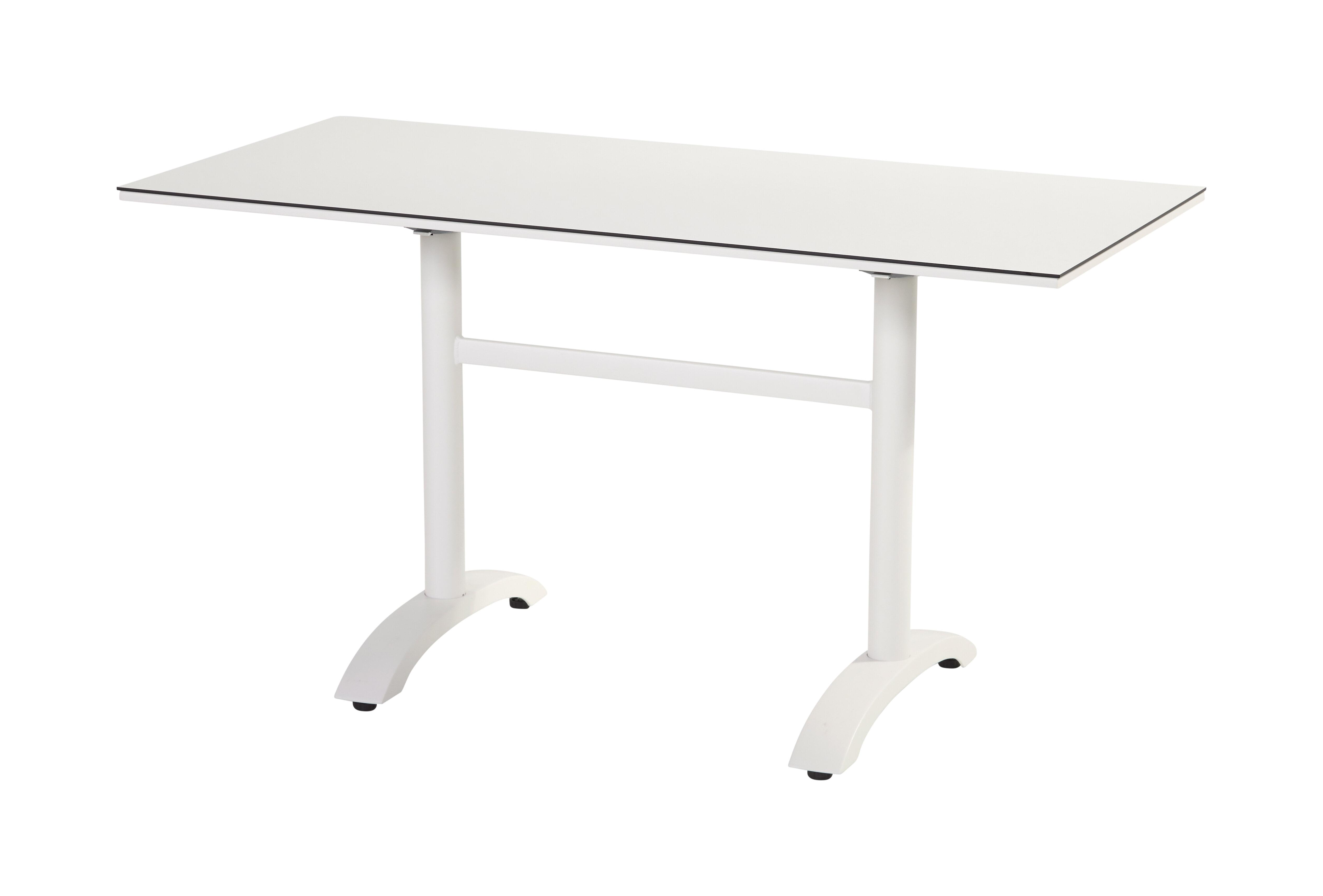 Hartman Outdoor Bistrotafel 'Sophie Studio' inklapbaar, 138 x 68cm, kleur Wit