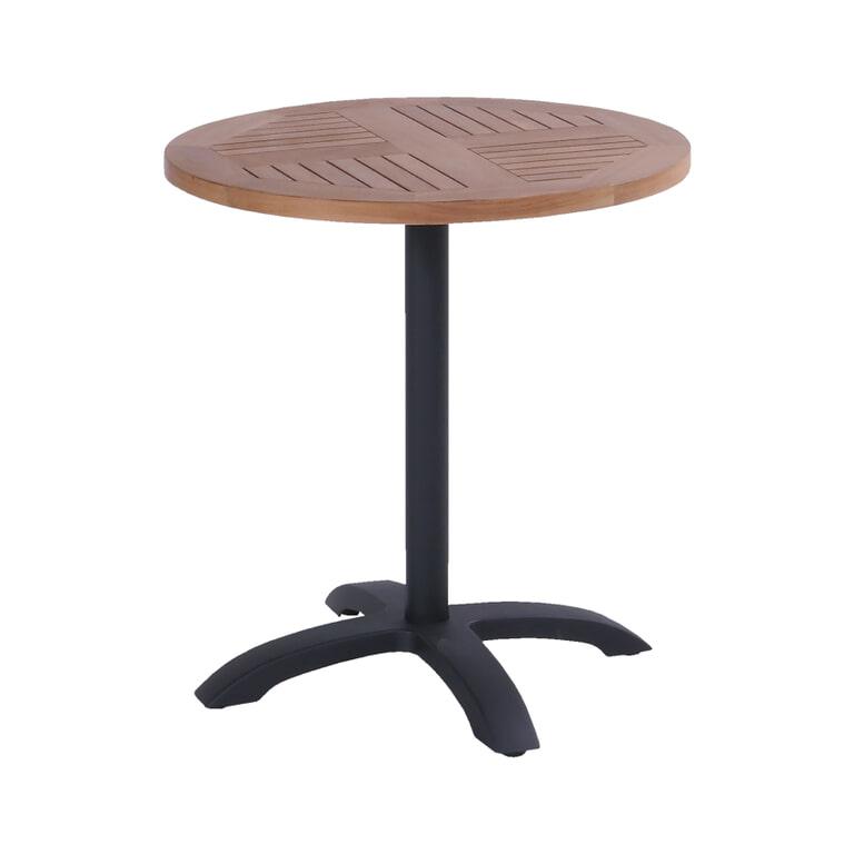 Hartman Outdoor Ronde Bistrotafel 70cm, inklapbaar, kleur Zwart