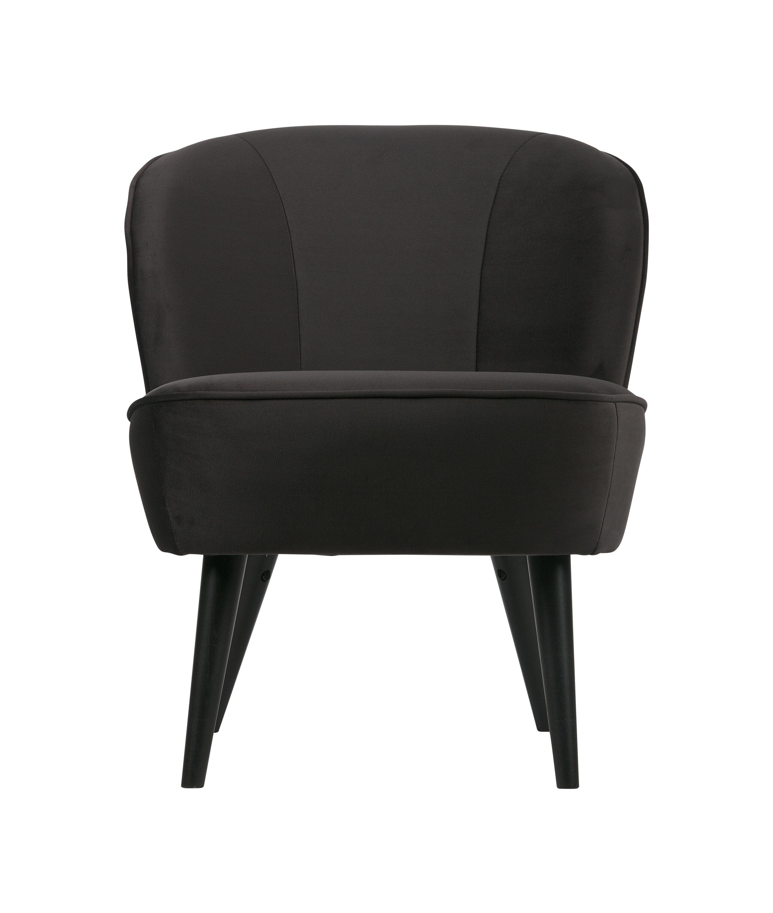 Uw partner in meubels: WOOOD Fauteuil 'Sara', kleur Antraciet Zitmeubelen | Fauteuils