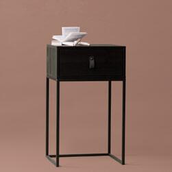 WOOOD Nachtkastje 'Zola' kleur Zwart