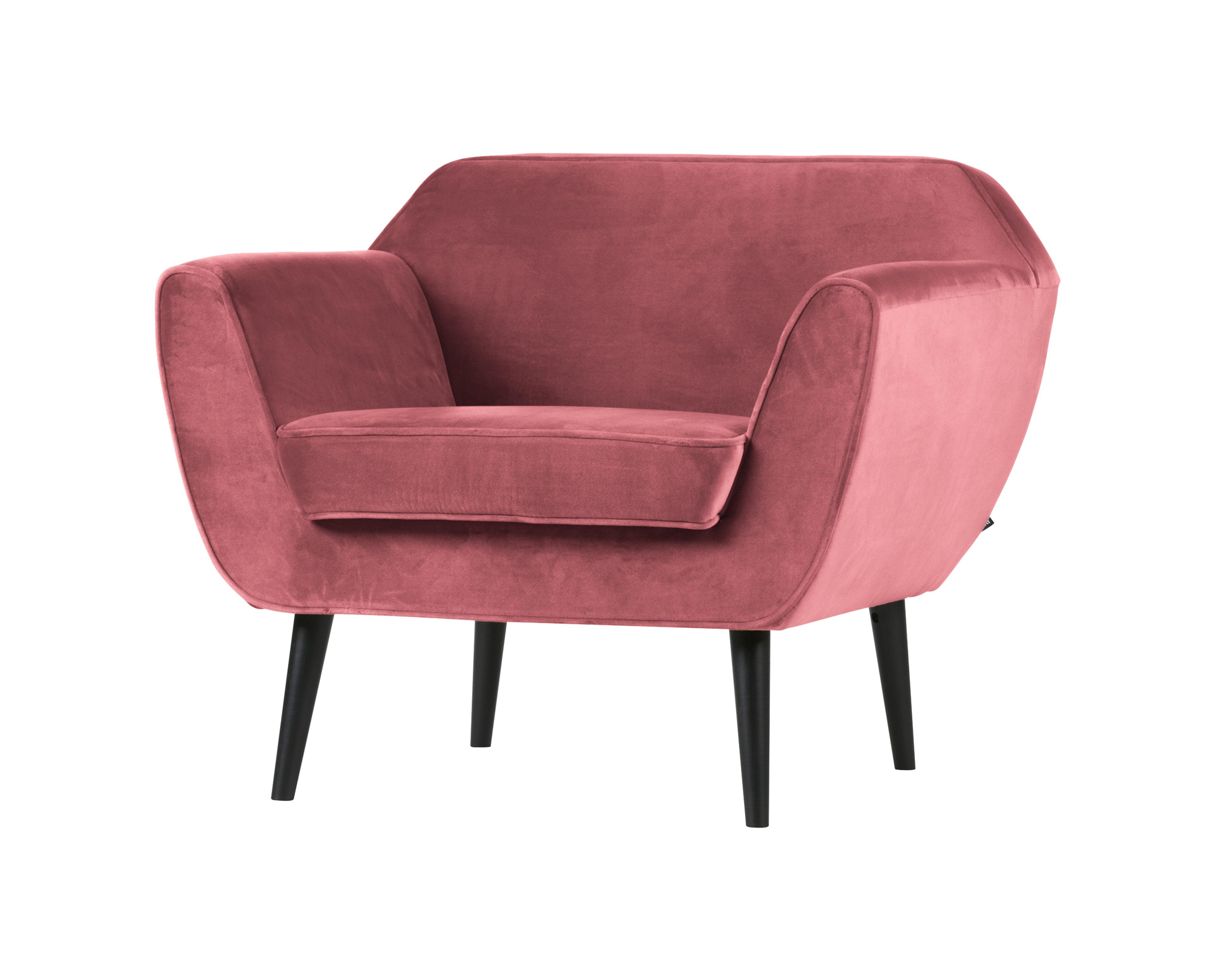 Uw partner in meubels: WOOOD Fauteuil 'Rocco', kleur Roze