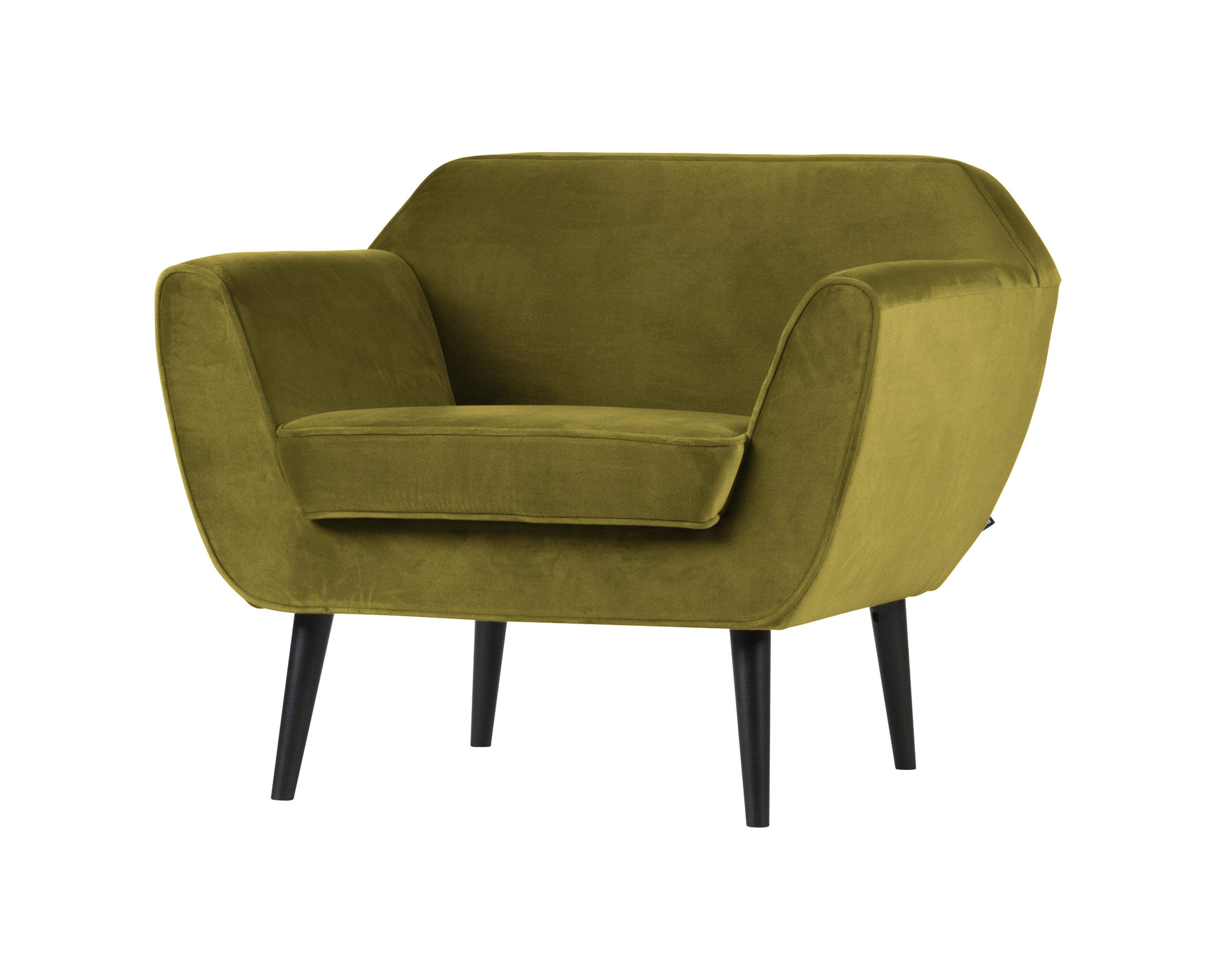 Uw partner in meubels: WOOOD Fauteuil 'Rocco', kleur Olijfgroen