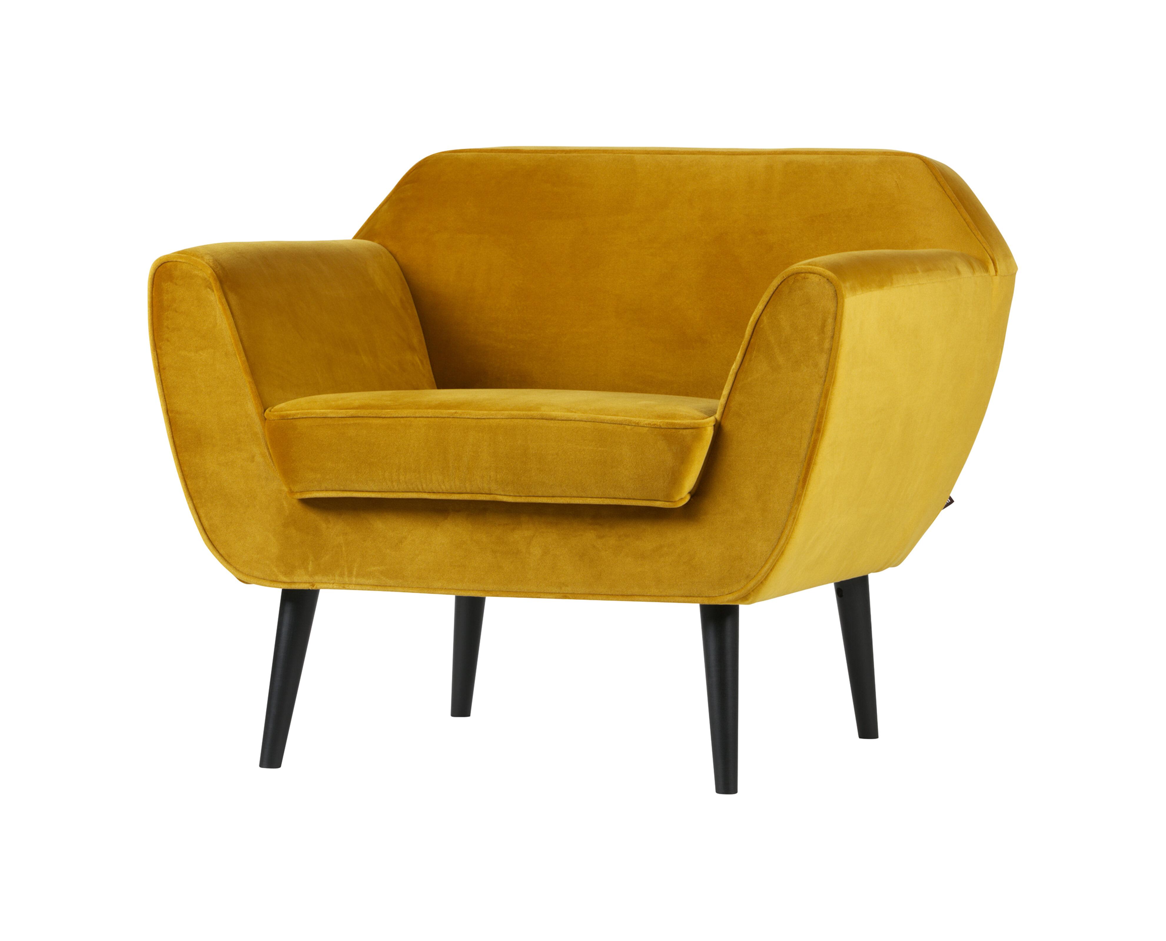 Uw partner in meubels: WOOOD Fauteuil 'Rocco', kleur Okergeel Zitmeubelen | Fauteuils
