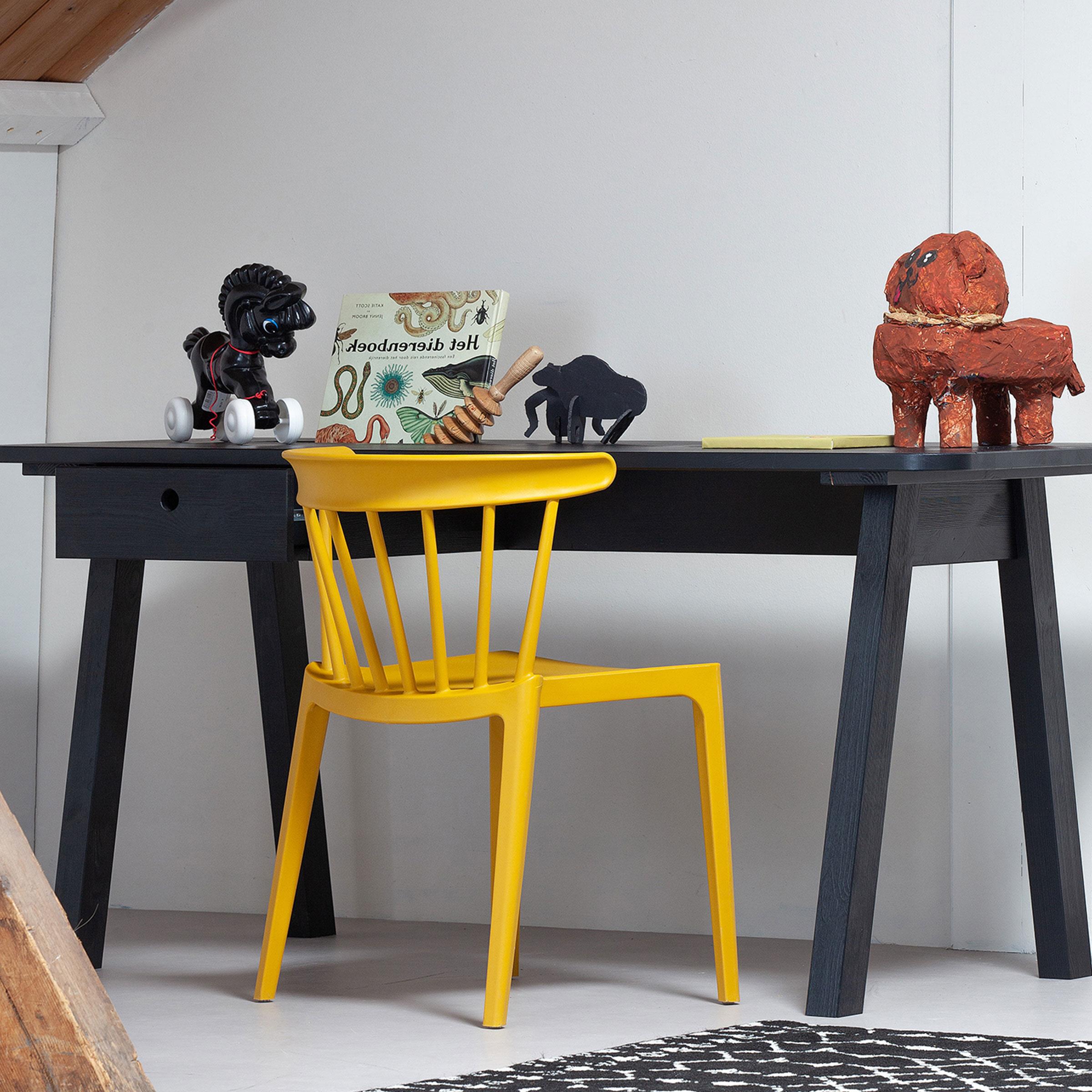WOOOD Tuin - Eetkamerstoel 'Bliss' kleur Geel