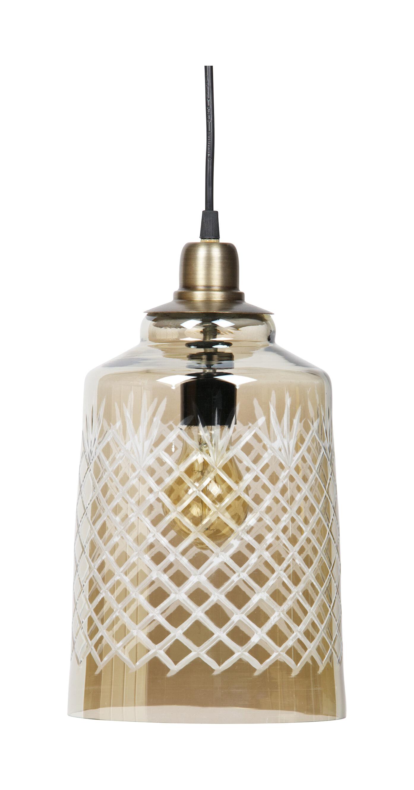 BePureHome Hanglamp 'Engrave' kleur Antique Brass