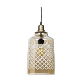 BePureHome Hanglamp 'Engrave' kleur Antique Brass