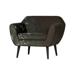 WOOOD Fauteuil 'Rocco', Bamboe Print