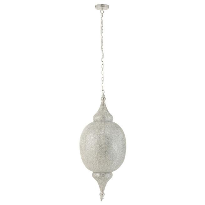 J-Line Hanglamp 'Octave' Oosters, kleur Wit, Ø41cm