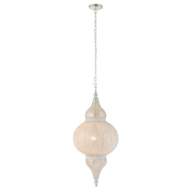 J-Line Hanglamp 'Donatien' Oosters, kleur Wit, Ø40cm