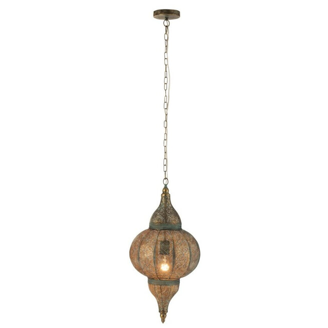 J-Line Hanglamp 'Octaaf' Oosters, Small, kleur Oud Goud, Ø32cm