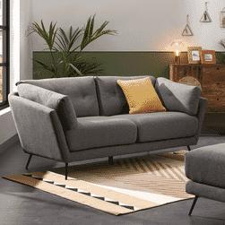 Kave Home 3-zits Bank 'Sahira' kleur Donkergrijs