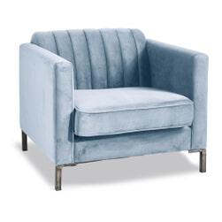 Rivièra Maison Fauteuil 'Miami' Velvet, kleur Soho Sky Blue