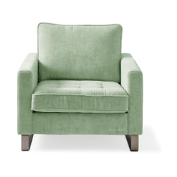 Rivièra Maison Fauteuil 'West Houston' Velvet, kleur Mint