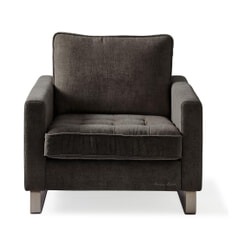 Rivièra Maison Fauteuil 'West Houston' Velvet, kleur Shadow