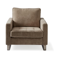 Rivièra Maison Fauteuil 'West Houston' Velvet, kleur Clay
