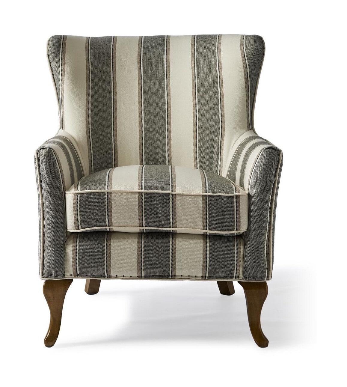 Riviera Maison Fauteuil 'Cavendish', kleur Grey Stripe