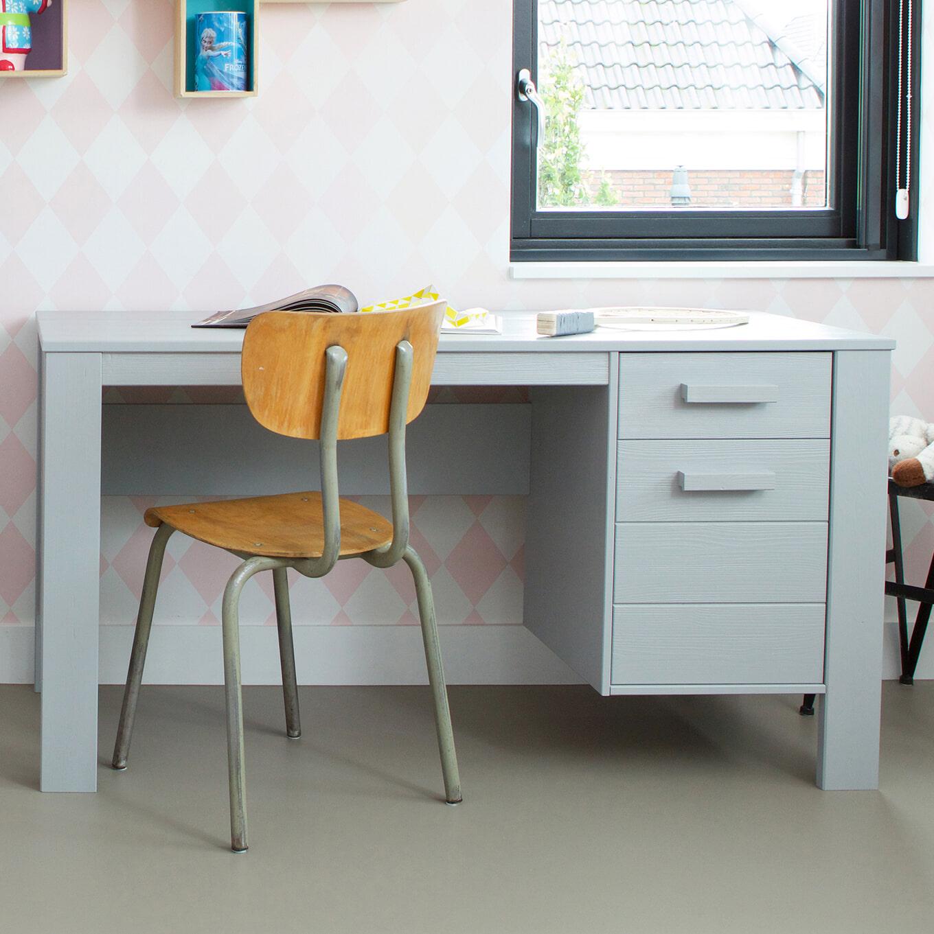 WOOOD Bureau 'Dennis', kleur betongrijs