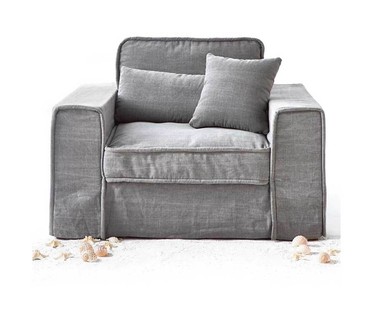 Riviera Maison Loveseat 'Metropolis' Cotton, kleur Grey