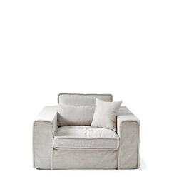Rivièra Maison Loveseat 'Metropolis' Cotton, kleur Ash Grey