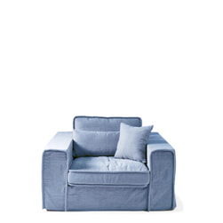 Rivièra Maison Loveseat 'Metropolis' Cotton, kleur Ice Blue
