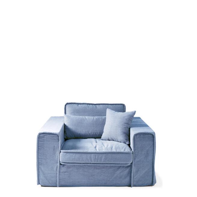 Rivièra Maison Loveseat 'Metropolis' Cotton, kleur Ice Blue