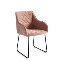 Rivièra Maison Eetkamerstoel 'Frisco Drive' Velvet, kleur Pink