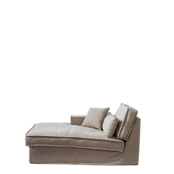 Rivièra Maison Modulaire Bank 'Metropolis' Chaise Longue Links, Cotton, kleur Natural