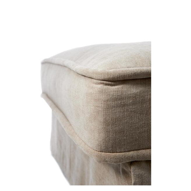 Rivièra Maison Modulaire Bank 'Metropolis' Chaise Longue Links, Cotton, kleur Natural