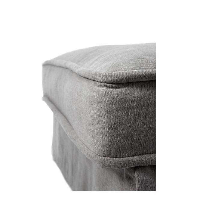 Rivièra Maison Modulaire Bank 'Metropolis' Chaise Longue Links, Cotton, kleur Grey
