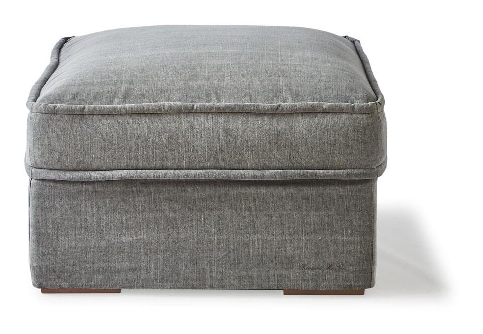 Riviera Maison Hocker 'Metropolis' Cotton, kleur Grey
