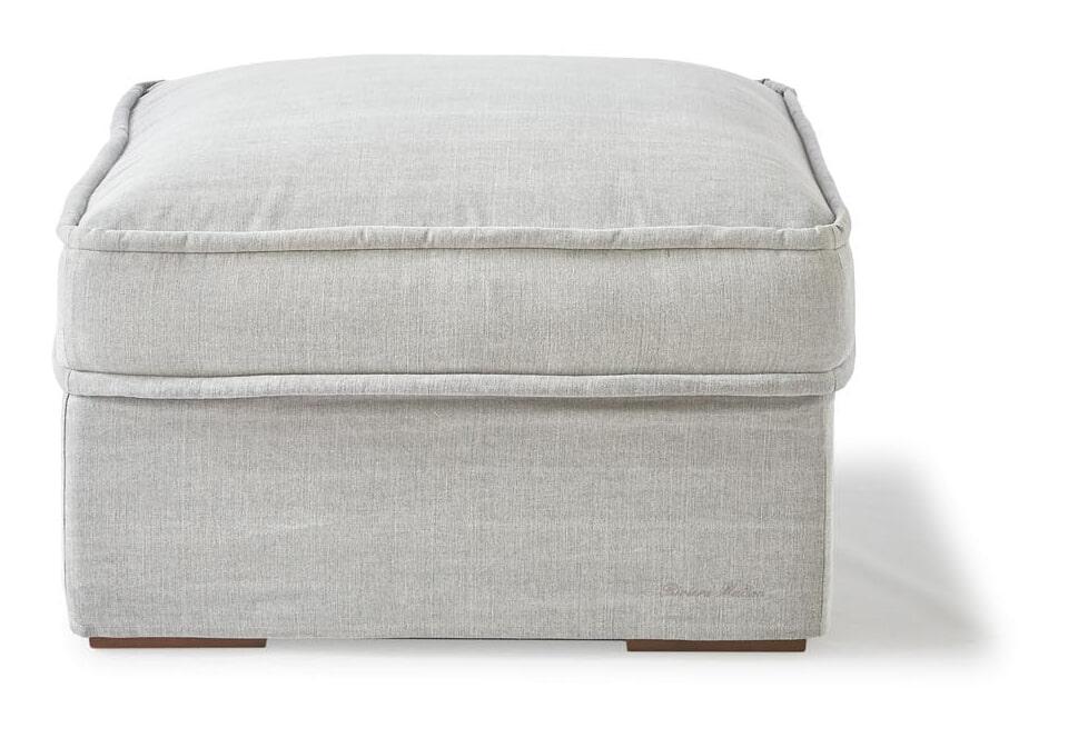 Riviera Maison Hocker 'Metropolis' Cotton, kleur Ash Grey