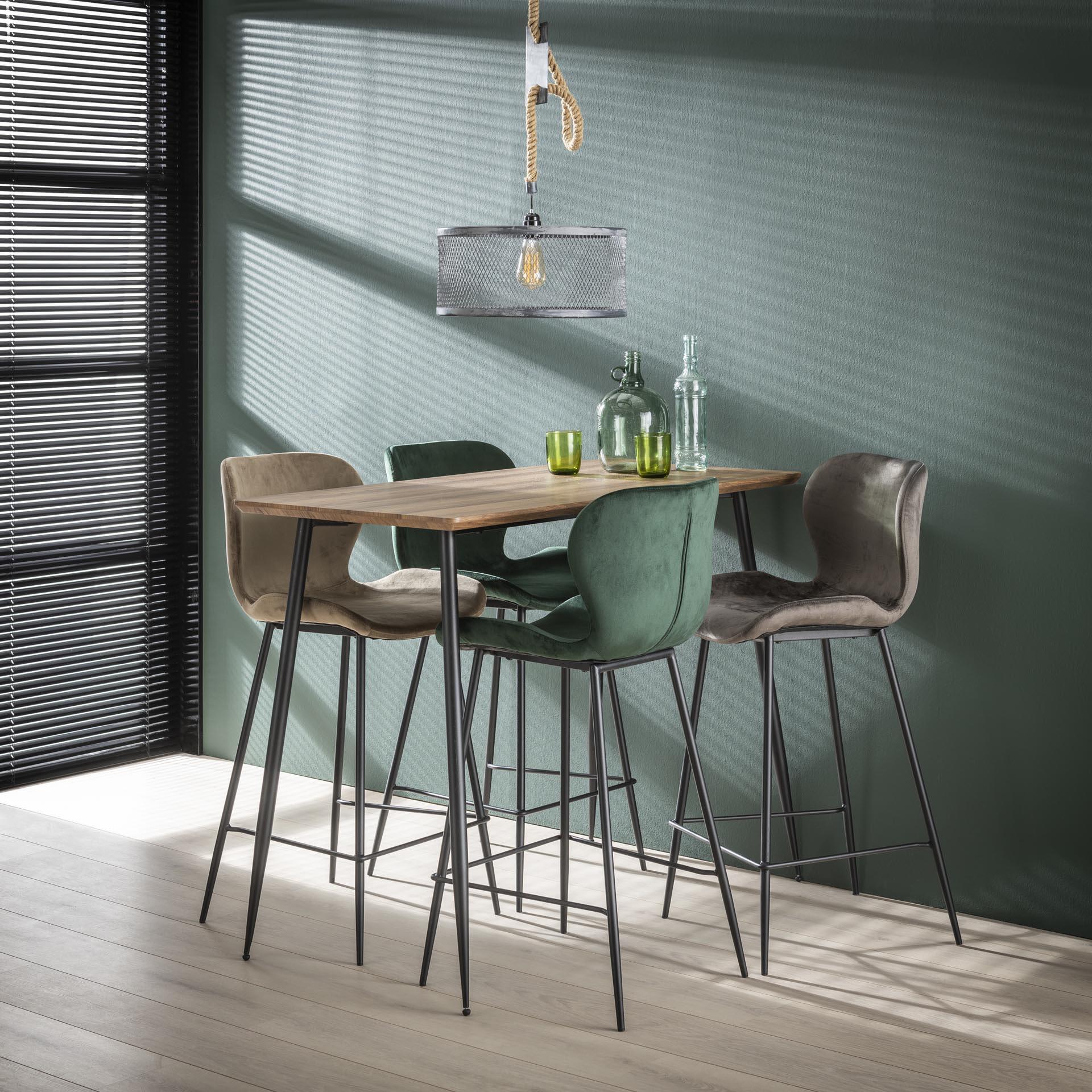 Bartafel 'Arno' MDF 120 x 60cm, kleur 3D Eiken Tafels | Bartafels vergelijken doe je het voordeligst hier bij Meubelpartner
