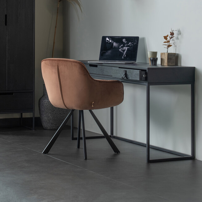 WOOOD Bureau 'Silas' 140 x 44cm, kleur Zwart