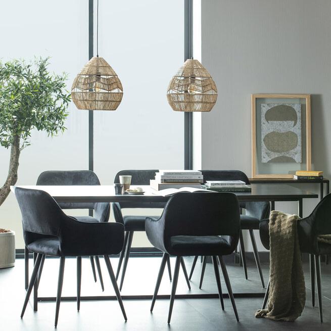 WOOOD Eettafel 'James' 200 x 90cm, kleur Zwart