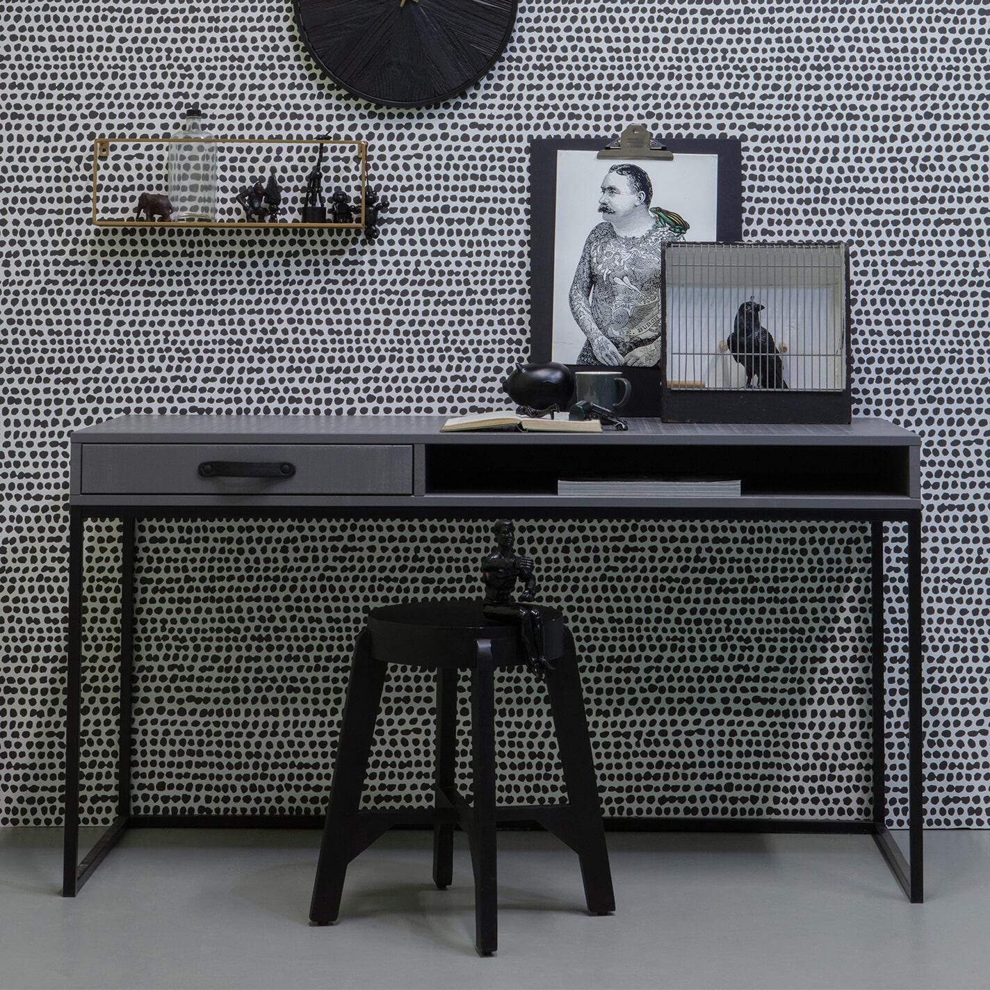 WOOOD Bureau 'Morris' 130 x 58cm, kleur Leem