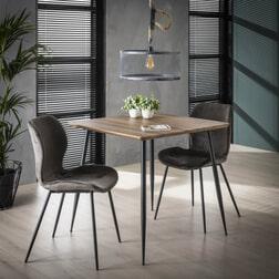 Eettafel 'Arno' MDF 80 x 80cm, kleur 3D Eiken