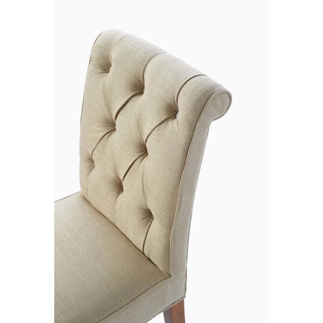 Rivièra Maison Eetkamerstoel 'Hampton Classic' Linen, kleur Flax
