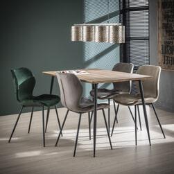 Eettafel 'Arno' MDF 120 x 80cm, kleur 3D Eiken