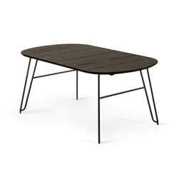 Kave Home Uitschuifbare Ovale Eettafel 'Milian' 140 - 220 x 90cm