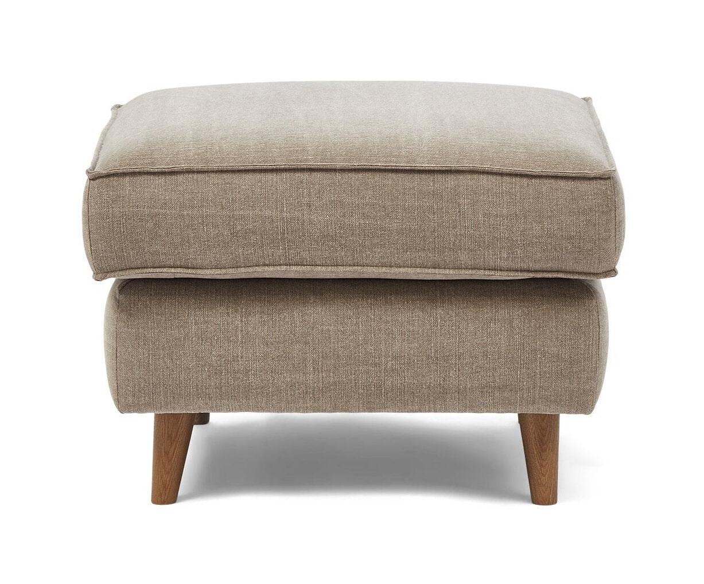 Riviera Maison Hocker 'Kendall' Cotton, 70 x 70cm, kleur Stone
