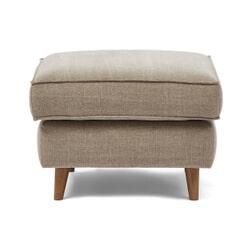 Rivièra Maison Hocker 'Kendall' Cotton, 70 x 70cm, kleur Stone